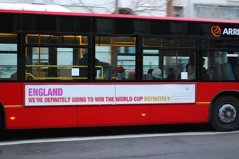 An Artist's Impression of the England World Cup Bandwagon